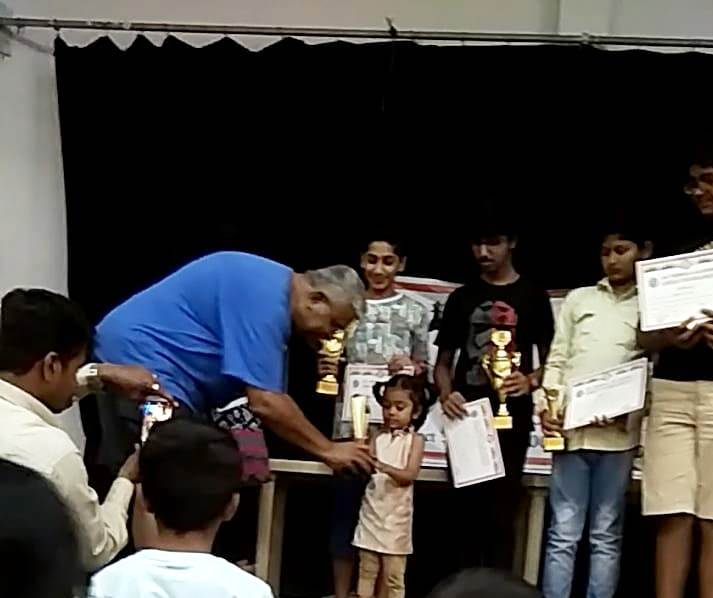 Purvitha H got Youngest Kid Prize in the 1st Nebula Cup Chess Tournament