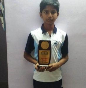 Surya S S Bagged 2nd Prize in The Hindu Chess Competition